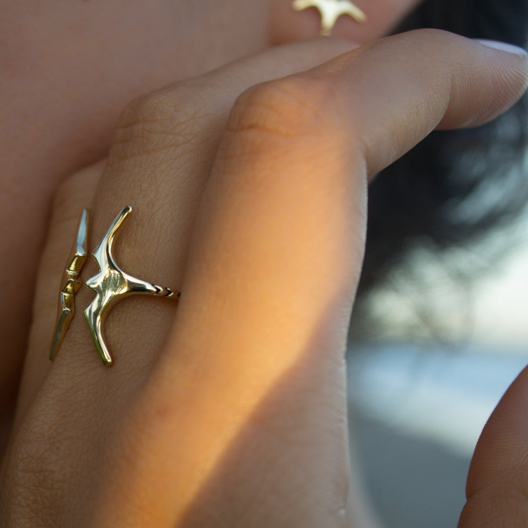 Frigate Bird Ring - 925 Sterling Silver or 18k Gold Vermeil FJD$ - Adorn Pacific - Fiji Jewelry - Made in Fiji