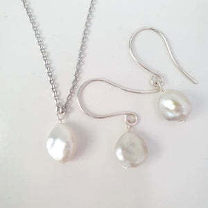 Salt Water Fiji Pearl Set - 925 Sterling silver FJD$ - Adorn Pacific