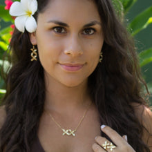 Load image into Gallery viewer, Frangipani Bua Earrings - 925 Sterling Silver or 18k Gold Vermeil FJD$ - Adorn Pacific - Fiji Jewelry