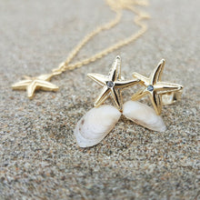 Load image into Gallery viewer, Mini Starfish Stud Earrings - 925 Sterling Silver or 18k Gold Vermeil FJD$ - Adorn Pacific