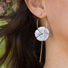Load image into Gallery viewer, Fiji Hibiscus Shell Earrings - 14k Gold Filled FJD$ - Adorn Pacific - Fiji Jewelry