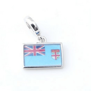 Fiji Flag Charm 925 Sterling Silver - FJD$ - Adorn Pacific - Fiji Jewelry - Made in Fiji