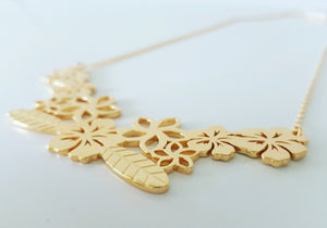 Salusalu Flower Lei Necklace - 925 Sterling Silver or 18k Gold Vermeil - FJD$ - Adorn Pacific - Fiji Jewelry