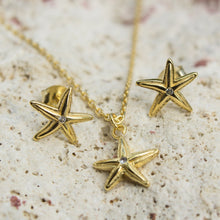 Load image into Gallery viewer, Mini Starfish Stud Earrings - 925 Sterling Silver or 18k Gold Vermeil FJD$ - Adorn Pacific - Fiji Jewelry