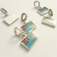 Load image into Gallery viewer, Fiji Flag Charm 925 Sterling Silver - FJD$ - Adorn Pacific - Fiji Jewelry - Made in Fiji