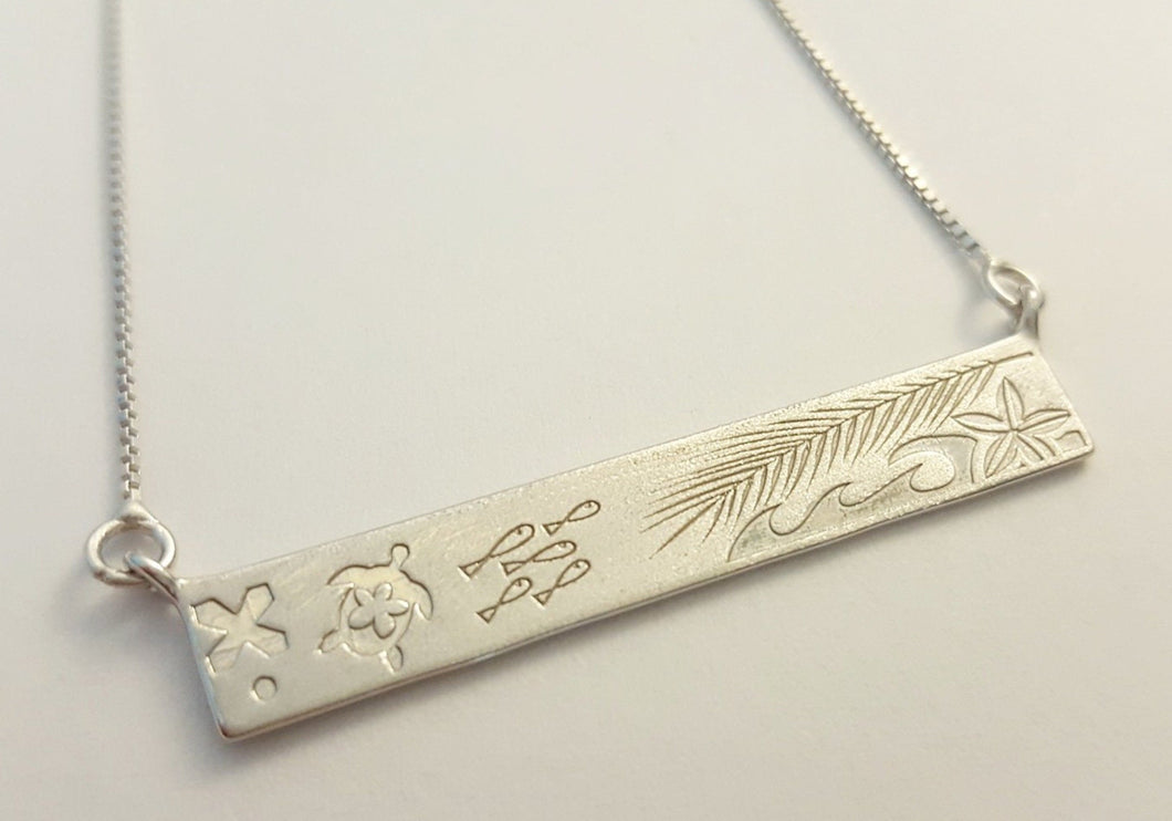 Island Life Necklace - 925 Sterling Silver FJD$ - Adorn Pacific - Fiji Jewelry