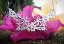Load image into Gallery viewer, Salusalu Flower Lei Necklace - 925 Sterling Silver or 18k Gold Vermeil - FJD$ - Adorn Pacific - Fiji Jewelry