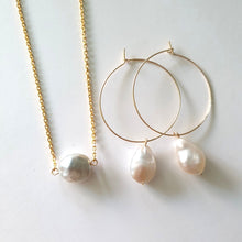 Load image into Gallery viewer, Fiji Salt Water Pearl Set - 14k Gold Filled FJD$ - Adorn Pacific - Fiji Jewelry - Made in Fiji