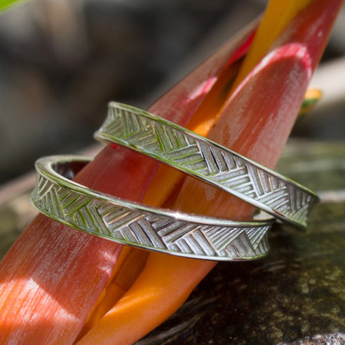 Woven Mat Pasfika Unisex Ring - 925 Sterling Silver FJD$ - Adorn Pacific - Fiji Jewelry