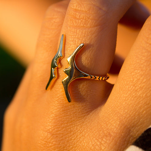 Frigate Bird Ring - 925 Sterling Silver or 18k Gold Vermeil FJD$ - Adorn Pacific - Fiji Jewelry