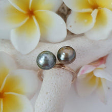 Load image into Gallery viewer, CUSTOM MADE - Double Fiji Saltwater Pearl Ring - 14k Gold Filled FJD$ - Adorn Pacific - Fiji Jewelry - Made in Fiji