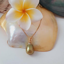 Load image into Gallery viewer, Fiji Saltwater Pearl Box Chain Necklace - 18k Gold Vermeil FJD$ - Adorn Pacific - Fiji Jewelry