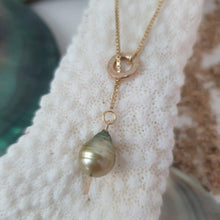 Load image into Gallery viewer, Fiji Saltwater Adjustable Pearl Necklace - 18k Gold Vermeil or 925 Sterling Silver FJD$