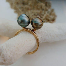 Load image into Gallery viewer, Double Fiji Pearl Ring - 14k Gold Filled FJD$ - Adorn Pacific - Fiji Jewelry
