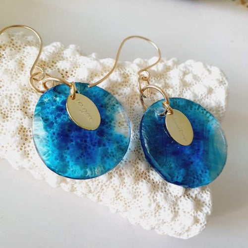 Adorn Pacific x Hot Glass Earrings in 925 Sterling Silver or 14k Gold Filled - FJD$ - Adorn Pacific - Fiji Jewelry