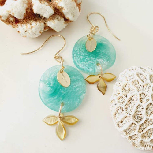 Adorn Pacific x Hot Glass Flower Earrings in 14k Gold Filled - FJD$ - Adorn Pacific - Fiji Jewelry