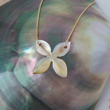 Load image into Gallery viewer, Fiji Frangipani Box Chain Necklace - 18k Gold Vermeil FJD$ - Adorn Pacific - Fiji Jewelry - Made in Fiji