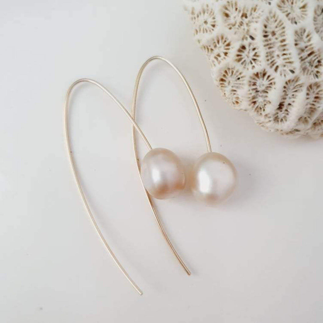 Fiji Saltwater Pearl Earrings - 14k Gold Filled FJD$ - Adorn Pacific - Fiji Jewelry - Made in Fiji