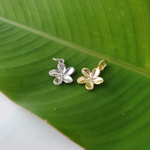 Frangipani Charms - 925 Sterling Silver or 18k Gold Vermeil FJD$ - Adorn Pacific - Fiji Jewelry