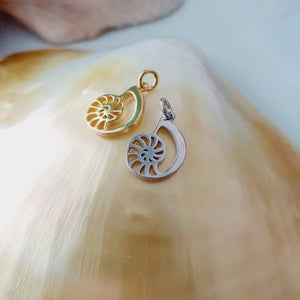 Nautilus Charms - 925 Sterling Silver or 18k Gold Vermeil FJD$ - Adorn Pacific - Fiji Jewelry - Made in Fiji