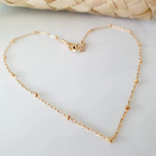 Custom Fine Chain Anklet - 14k Gold Fill - add a charm  - FJD$ - Adorn Pacific - Fiji Jewelry