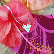 Load image into Gallery viewer, Custom Heart & Initial Necklace - 925 Sterling Silver FJD$ - Adorn Pacific - Fiji Jewelry