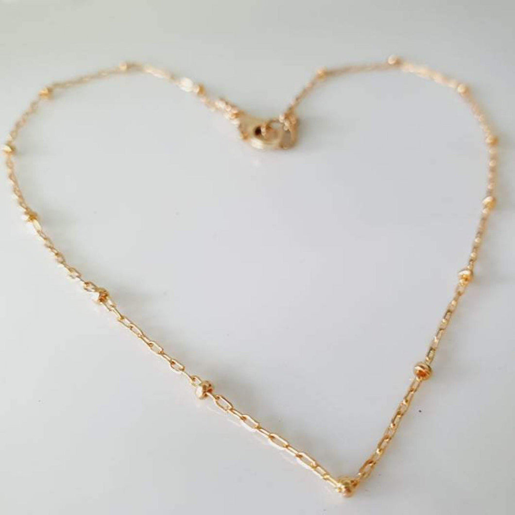 Custom Fine Chain Necklace - 14k Gold Fill - add a charm  - FJD$ - Adorn Pacific - Fiji Jewelry
