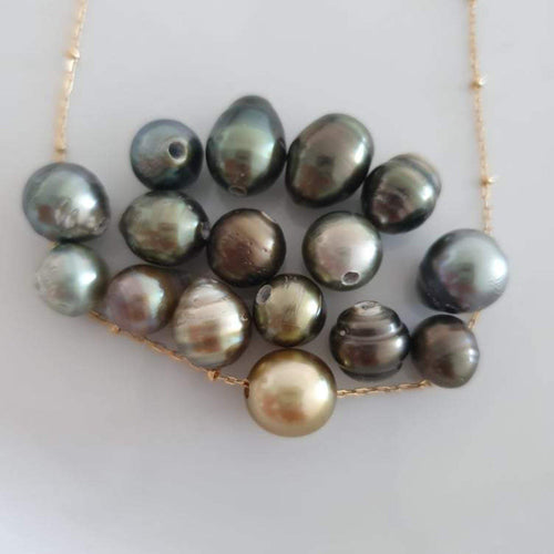 Civa Fiji Circled Saltwater Pearl Fine Gold Necklace - choose your pearl & chain style - FJD$ - Adorn Pacific - Fiji Jewelry