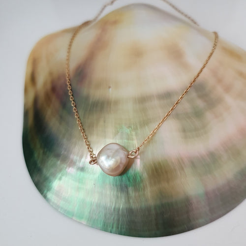 Fiji Pearl Infinity Necklace - 18k Gold Vermeil FJD$ - Adorn Pacific
