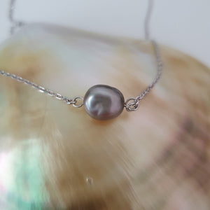 Fiji Pearl Infinity Necklace - 925 Sterling Silver FJD$ - Adorn Pacific - Fiji Jewelry