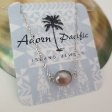 Load image into Gallery viewer, Fiji Pearl Infinity Necklace - 925 Sterling Silver FJD$ - Adorn Pacific - Fiji Jewelry