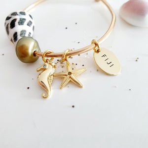 Charm Bangle - choose your own - 14k Gold Filled - FJD$ - Adorn Pacific - Fiji Jewelry