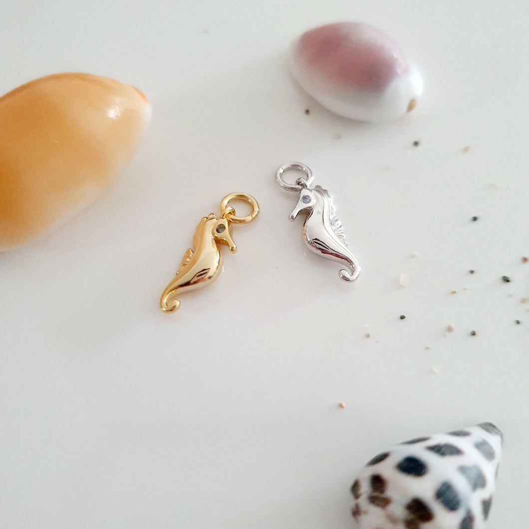 Seahorse Charms - 925 Sterling Silver or 18k Gold Vermeil FJD$ - Adorn Pacific - Fiji Jewelry - Made in Fiji