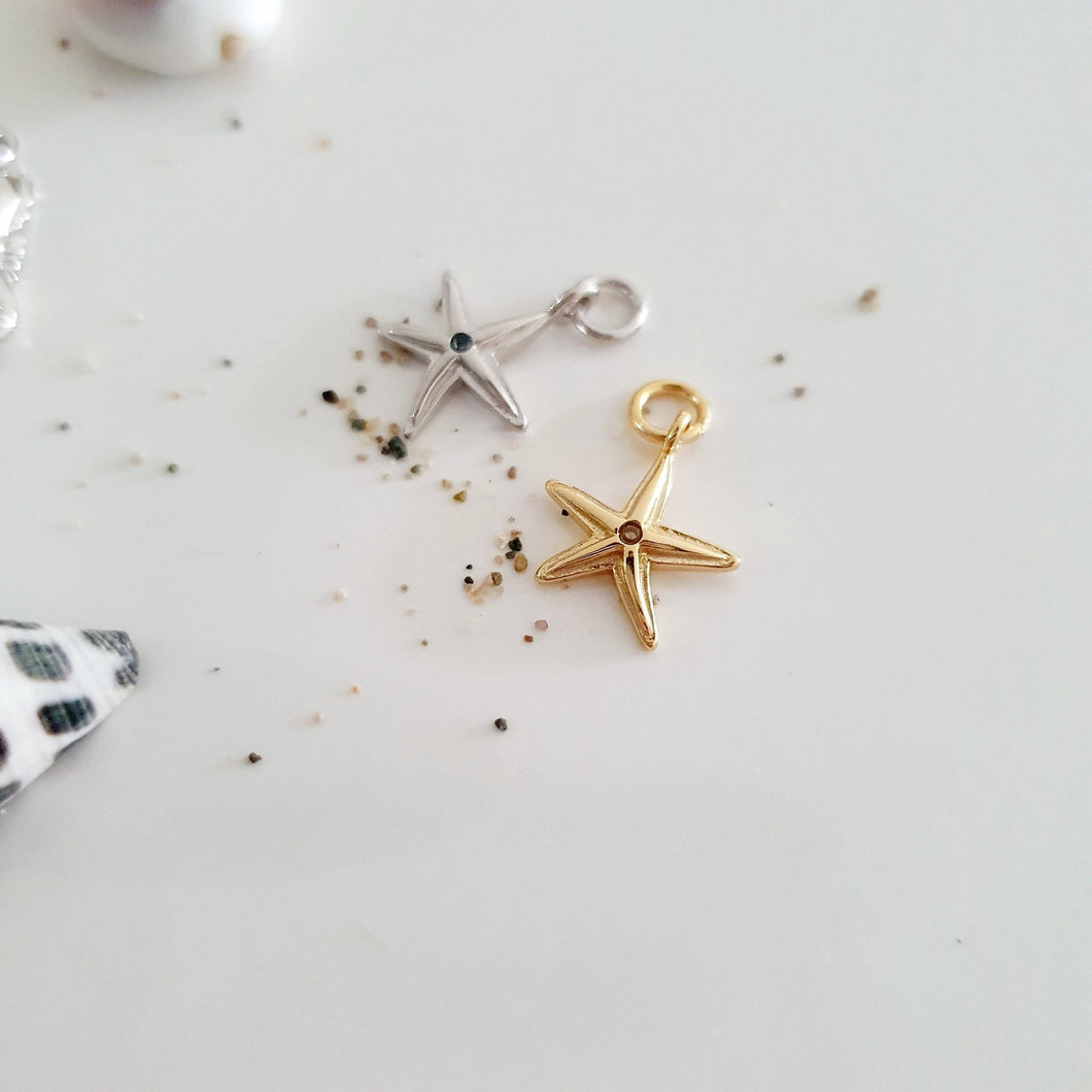 Starfish Charms - 925 Sterling Silver or 18k Gold Vermeil FJD$ - Adorn Pacific - Fiji Jewelry