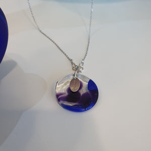 Adorn Pacific x Hot Glass Blue Round Necklace - FJD$ - Adorn Pacific - Fiji Jewelry - Made in Fiji