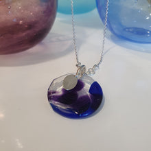 Load image into Gallery viewer, Adorn Pacific x Hot Glass Blue Round Necklace - FJD$ - Adorn Pacific - Fiji Jewelry - Made in Fiji