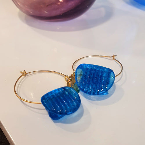 Adorn Pacific x Hot Glass Hoop Earrings 925 Sterling Silver or 14k Gold Filled - FJD$ - Adorn Pacific - Fiji Jewelry
