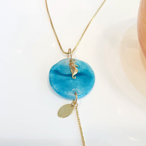 Adorn Pacific x Hot Glass Round Seahorse Necklace - FJD$ - Adorn Pacific - Fiji Jewelry