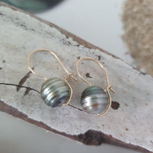 Load image into Gallery viewer, Jane Drop Earrings with Fiji Saltwater Pearl - 14k Gold Filled, 925 Sterling Silver or 14k Rose Gold Filled FJD$ - Adorn Pacific - Fiji Jewelry