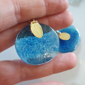 Adorn Pacific x Hot Glass Ocean Blue Earrings in 14k Gold Filled - FJD$ - Adorn Pacific - Fiji Jewelry - Made in Fiji