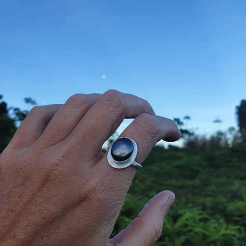 CUSTOM MADE - Bezel set Fiji Saltwater Pearl Ring - 925 Sterling Silver FJD$ - Adorn Pacific - Fiji Jewelry - Made in Fiji
