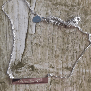 Custom Engraved Bar Name Necklace - 925 Sterling Silver FJD$ - Adorn Pacific - Fiji Jewelry