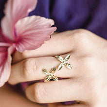 Load image into Gallery viewer, Frangipani Bua Ring - 925 Sterling Silver or 18k Gold Vermeil FJD$ - Adorn Pacific - Fiji Jewelry