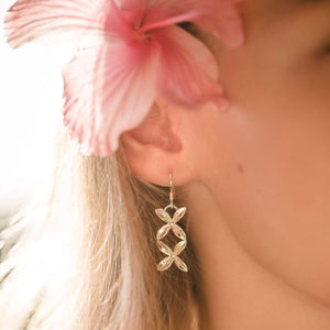 Frangipani Bua Earrings - 925 Sterling Silver or 18k Gold Vermeil FJD$ - Adorn Pacific - Fiji Jewelry