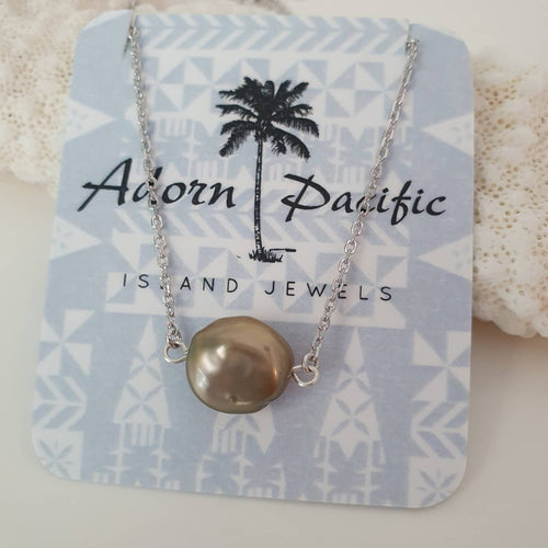 Fiji Pearl Infinity Necklace - 925 Sterling Silver FJD$ - Adorn Pacific