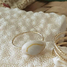 Load image into Gallery viewer, Textured Cowrie Shell Ring - 14k Gold Filled FJD$ - Adorn Pacific - Fiji Jewelry