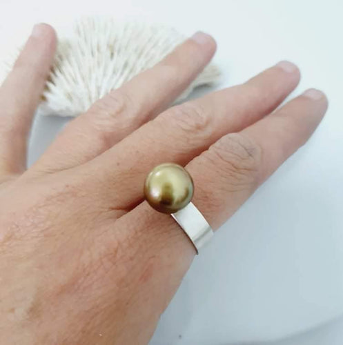 CUSTOM MADE - Fiji Saltwater Pearl Ring - Sterling Silver - Adorn Pacific - Fiji Jewelry - Made in Fiji