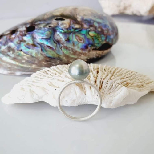 CUSTOM SIZED - Fiji Saltwater Pearl Ring - 925 Sterling Silver FJD$ - Adorn Pacific - Fiji Jewelry - Made in Fiji