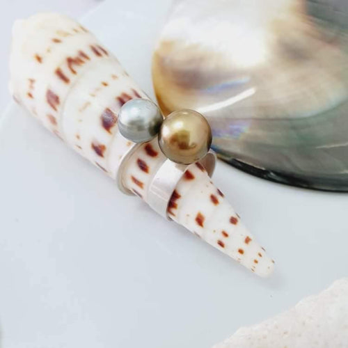 CUSTOM MADE - Fiji Saltwater Pearl Ring - Sterling Silver FJD$ starting from $350 - Adorn Pacific - Fiji Jewelry - Made in Fiji