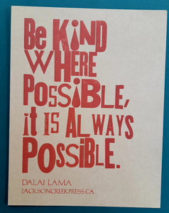 Be kind where possible